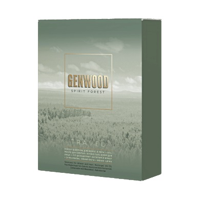 GENWOOD Набор travel (шамп60мл, гель-масло д/бритья, гель-крем д/лица, дез-нт, минер з/паста, з/щет)